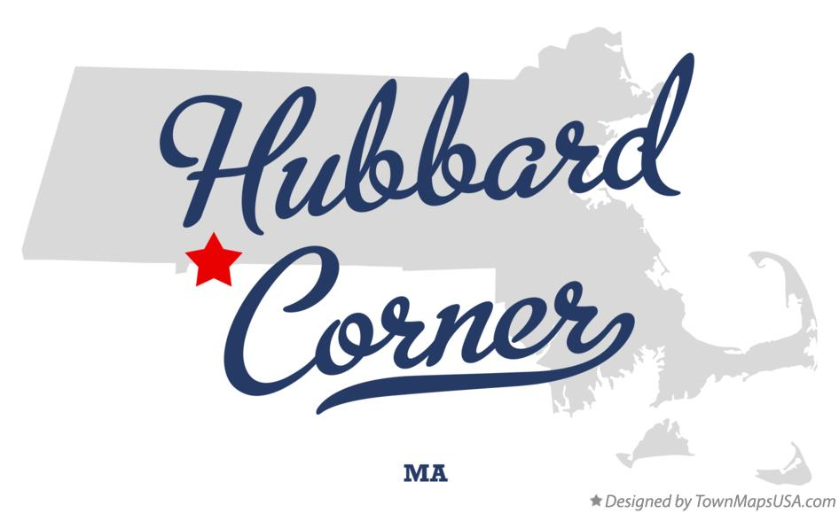 Map of Hubbard Corner Massachusetts MA