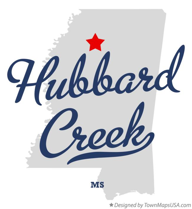 Map of Hubbard Creek Mississippi MS
