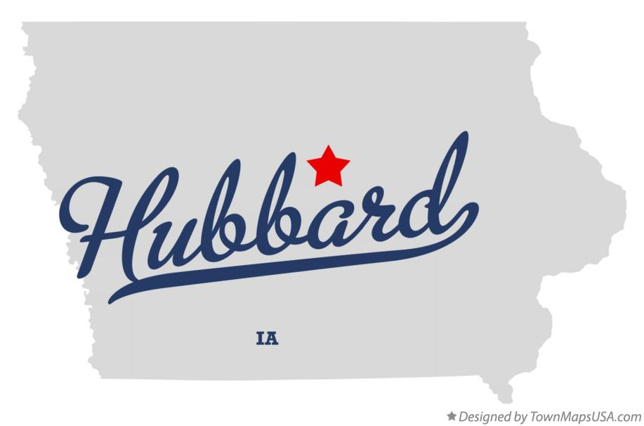Map of Hubbard Iowa IA