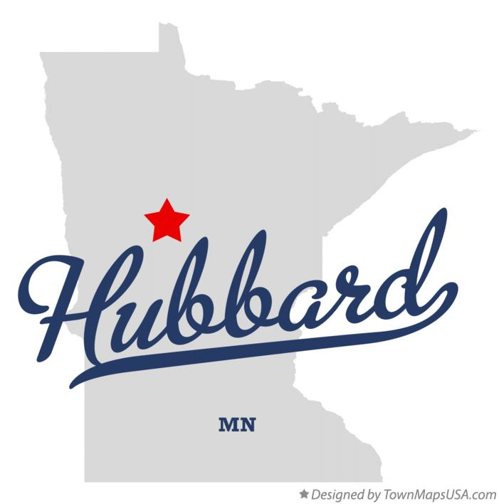 Map of Hubbard Minnesota MN
