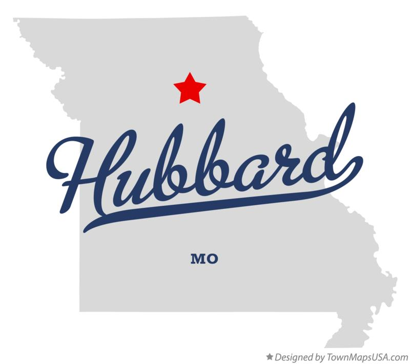 Map of Hubbard Missouri MO