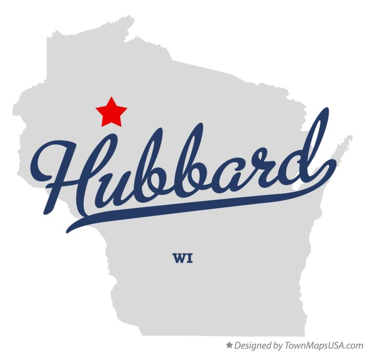 Map of Hubbard Wisconsin WI