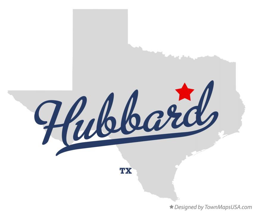 Hubbard Texas Map Map of Hubbard, TX, Texas