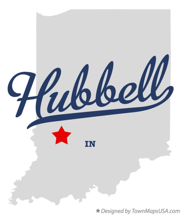 Map of Hubbell Indiana IN
