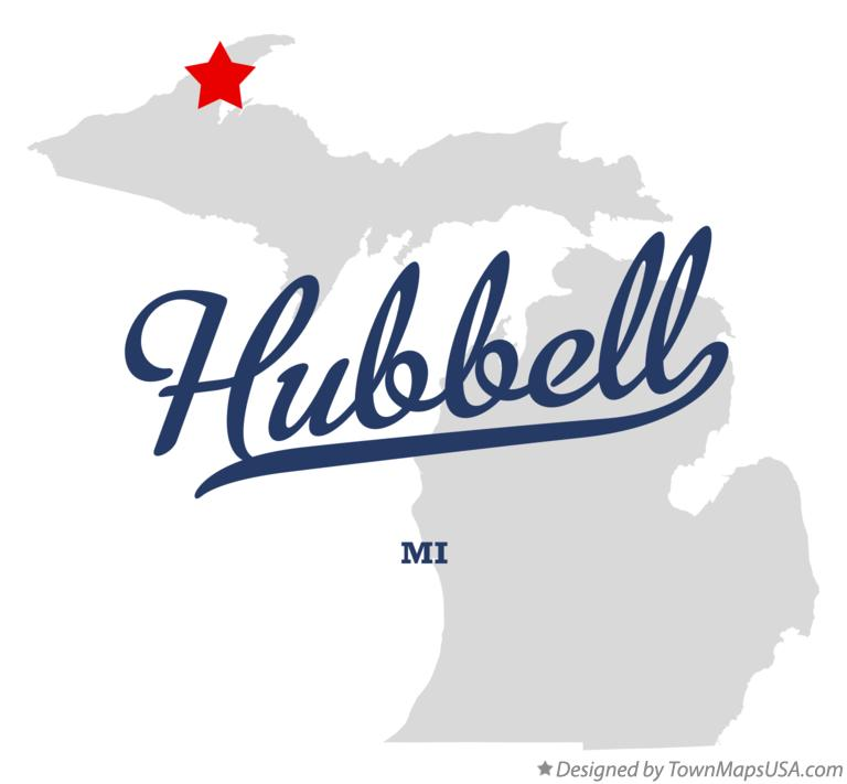 Map of Hubbell Michigan MI