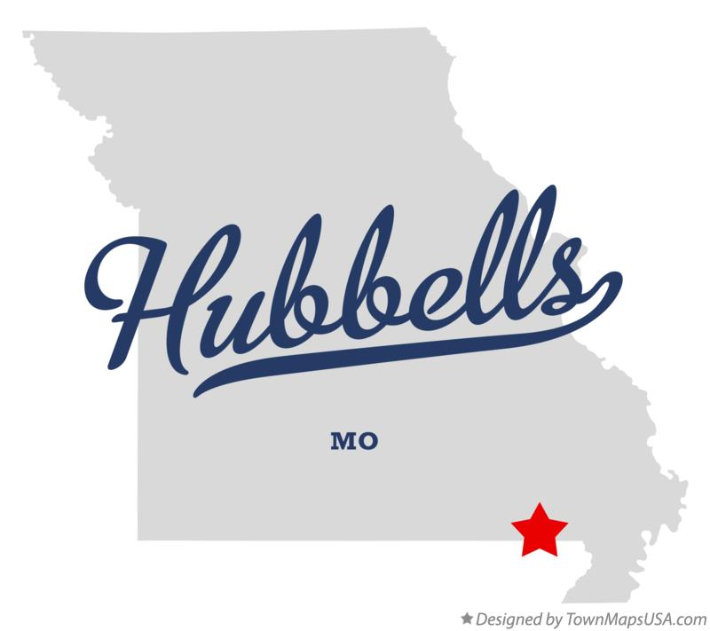 Map of Hubbells Missouri MO