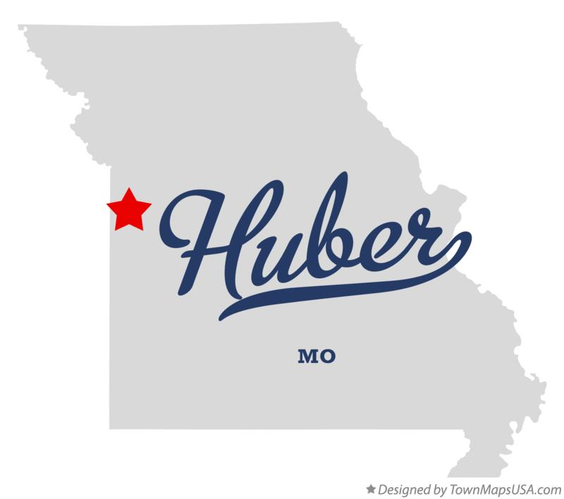 Map of Huber Missouri MO