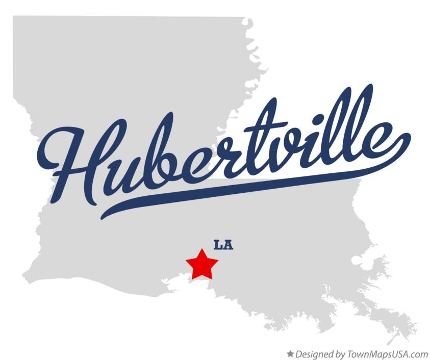 Map of Hubertville Louisiana LA