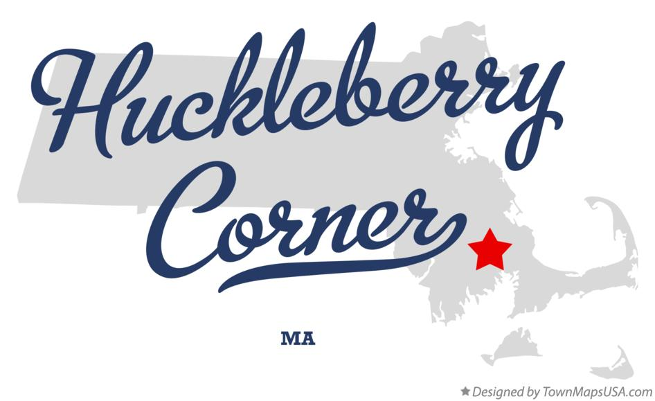 Map of Huckleberry Corner Massachusetts MA