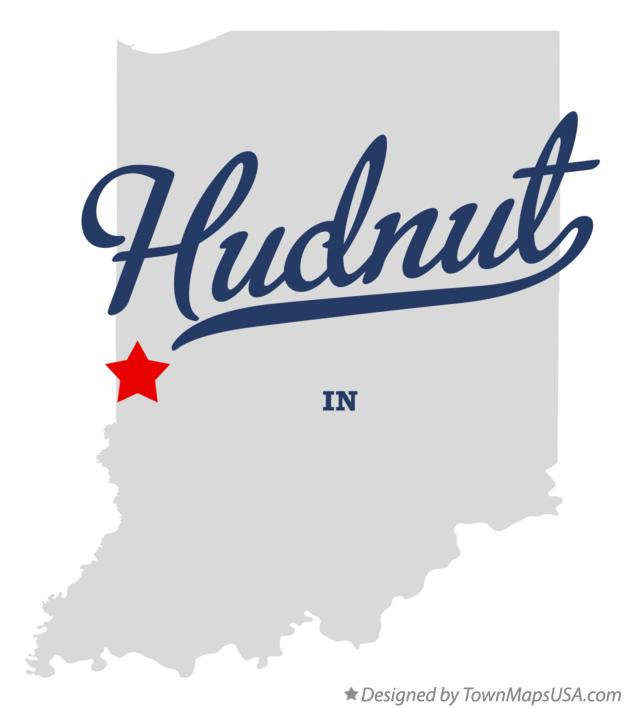 Map of Hudnut Indiana IN
