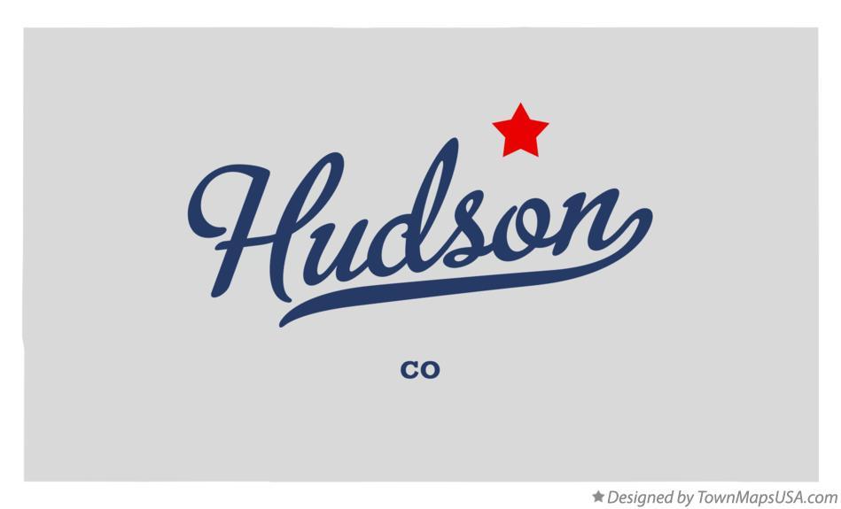 Map Of Hudson Co Colorado