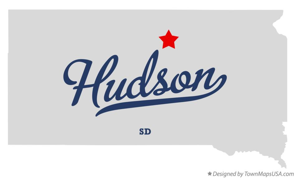 Map of Hudson South Dakota SD