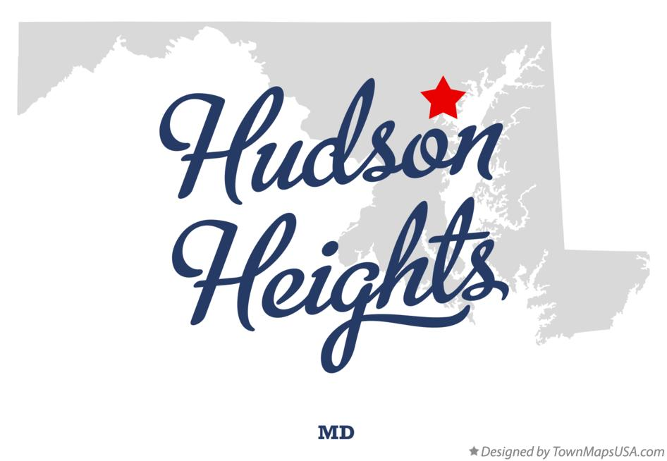 Map of Hudson Heights Maryland MD
