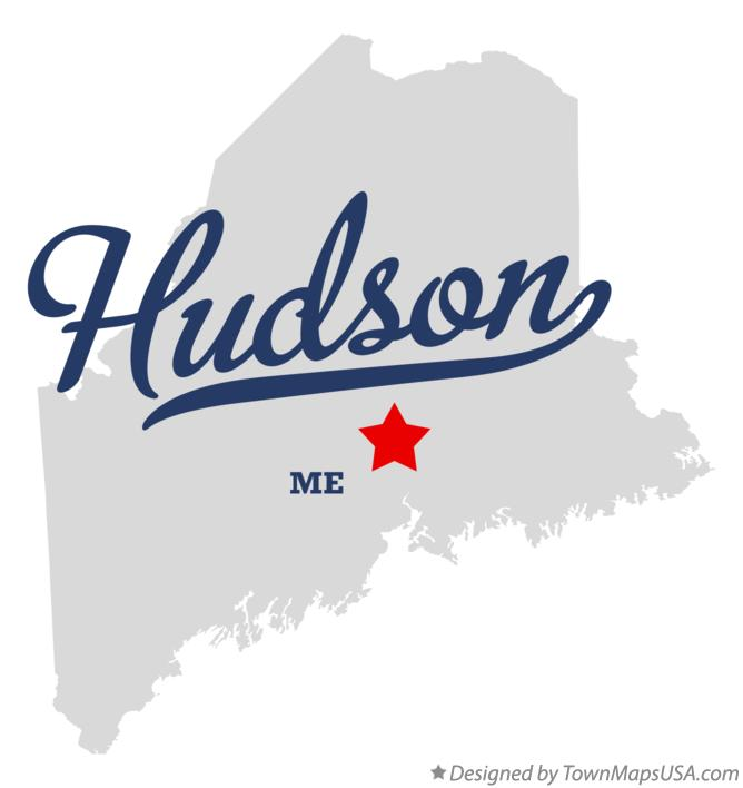 Map of Hudson Maine ME
