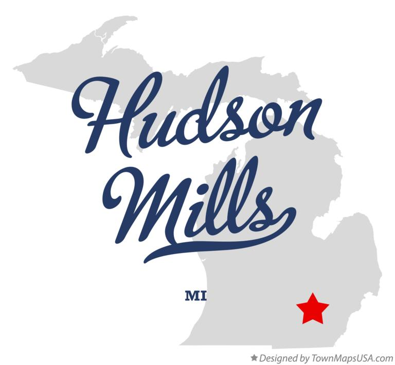 Map of Hudson Mills Michigan MI