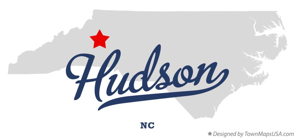 Map of Hudson North Carolina NC