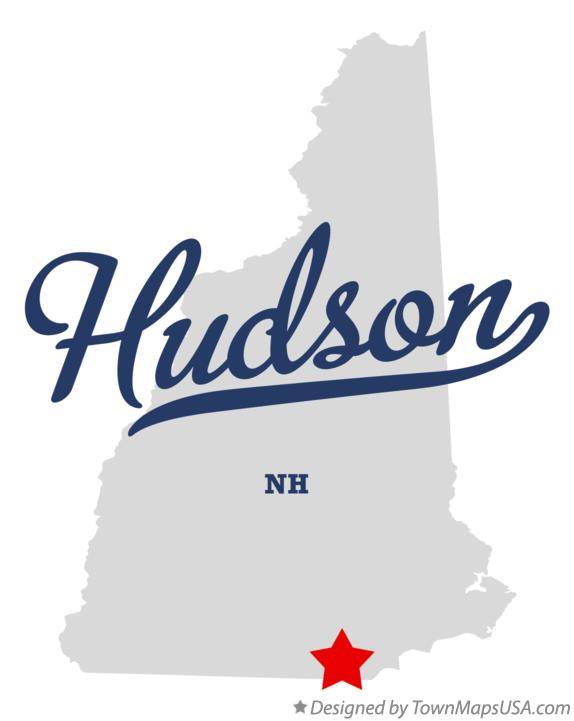 Map of Hudson New Hampshire NH