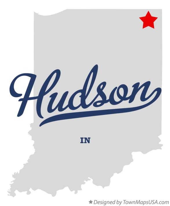 Map of Hudson Indiana IN