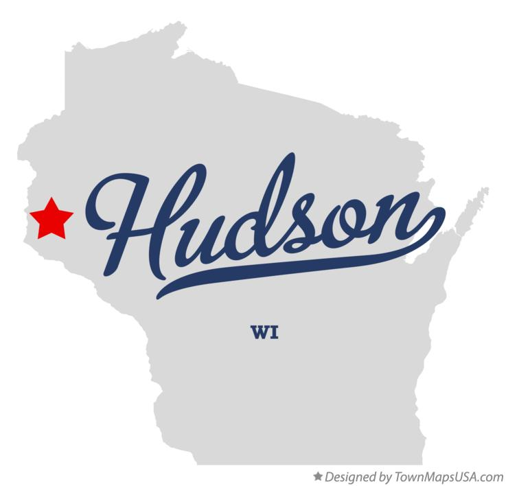 Map of Hudson Wisconsin WI