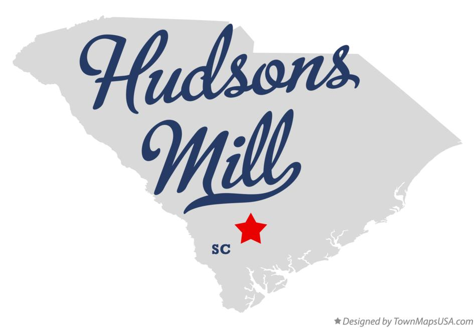 Map of Hudsons Mill South Carolina SC