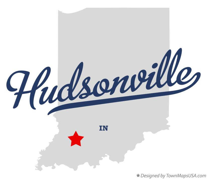 Map of Hudsonville Indiana IN
