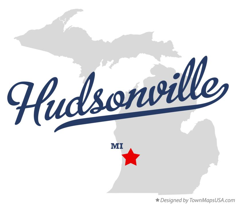 Map of Hudsonville Michigan MI
