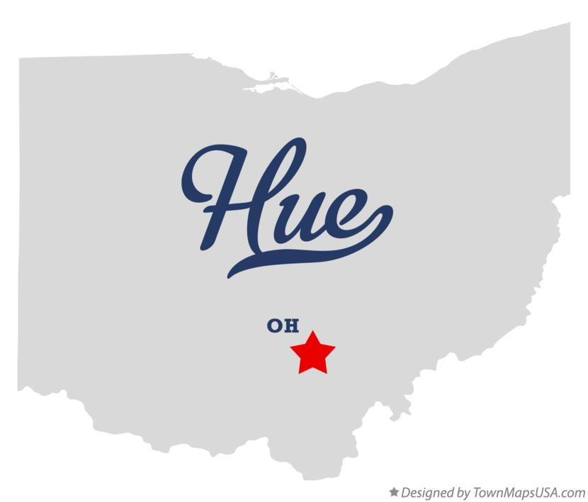 Map of Hue Ohio OH