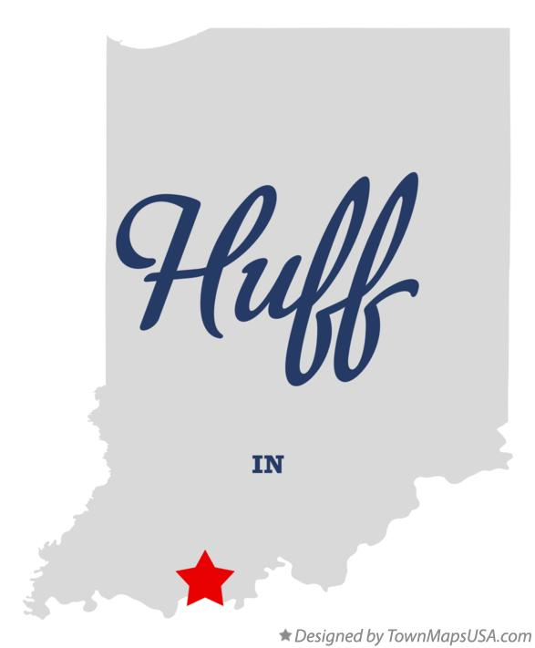 Map of Huff Indiana IN