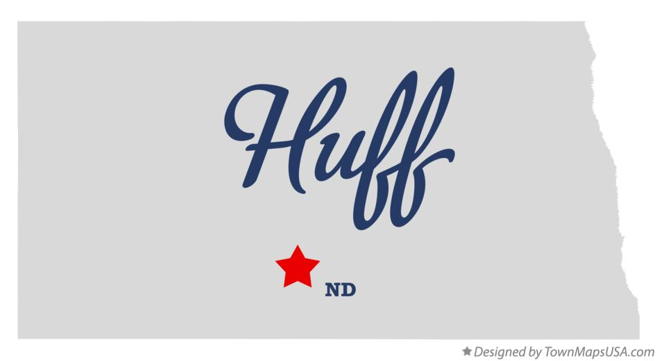 Map of Huff North Dakota ND