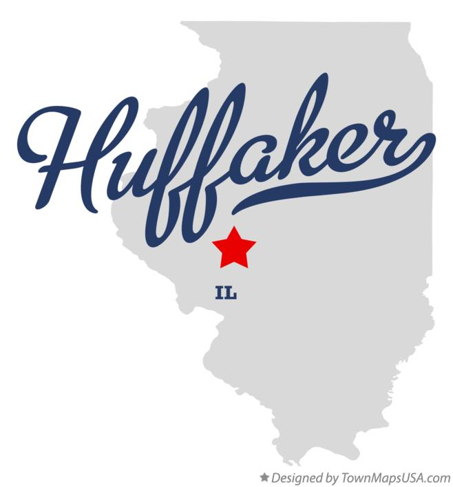 Map of Huffaker Illinois IL