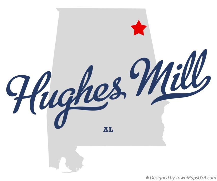 Map of Hughes Mill Alabama AL