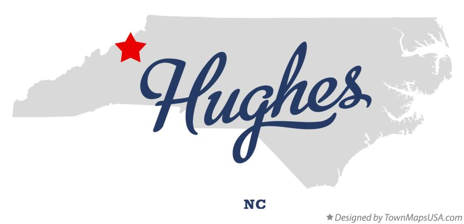 Map of Hughes North Carolina NC