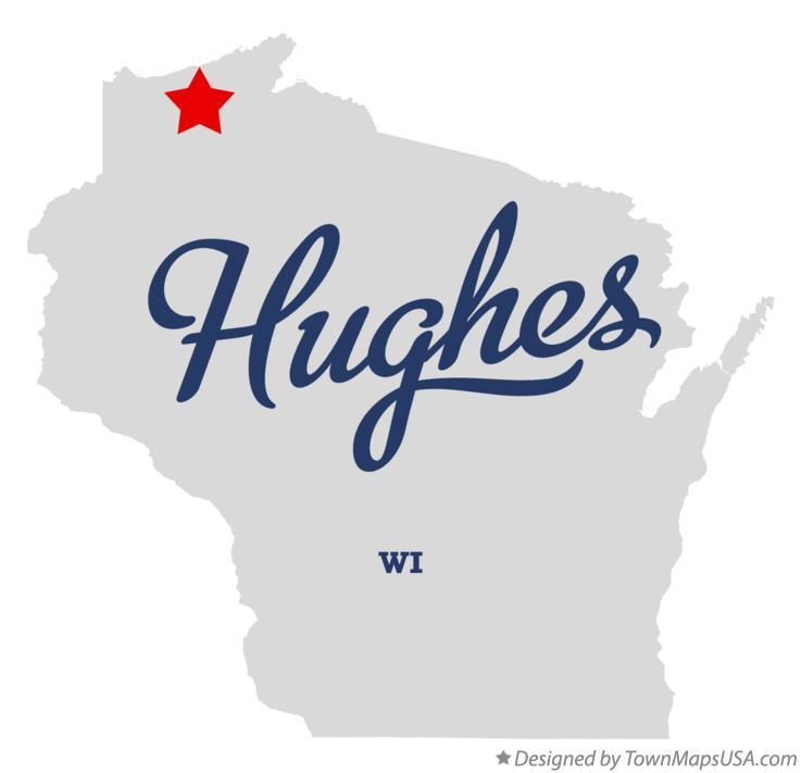 Map of Hughes Wisconsin WI