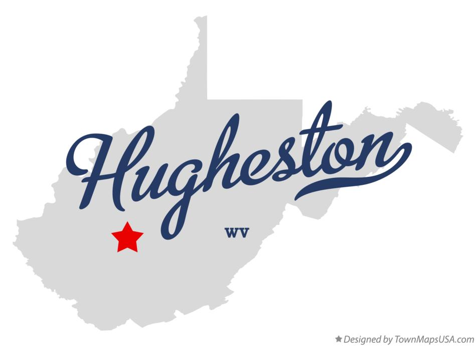 Map of Hugheston West Virginia WV