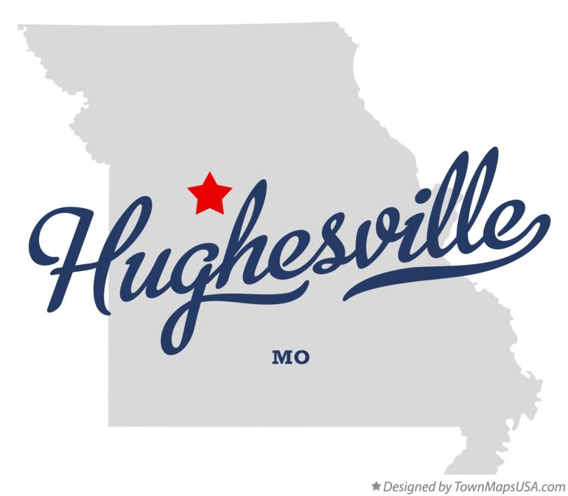 Map of Hughesville Missouri MO