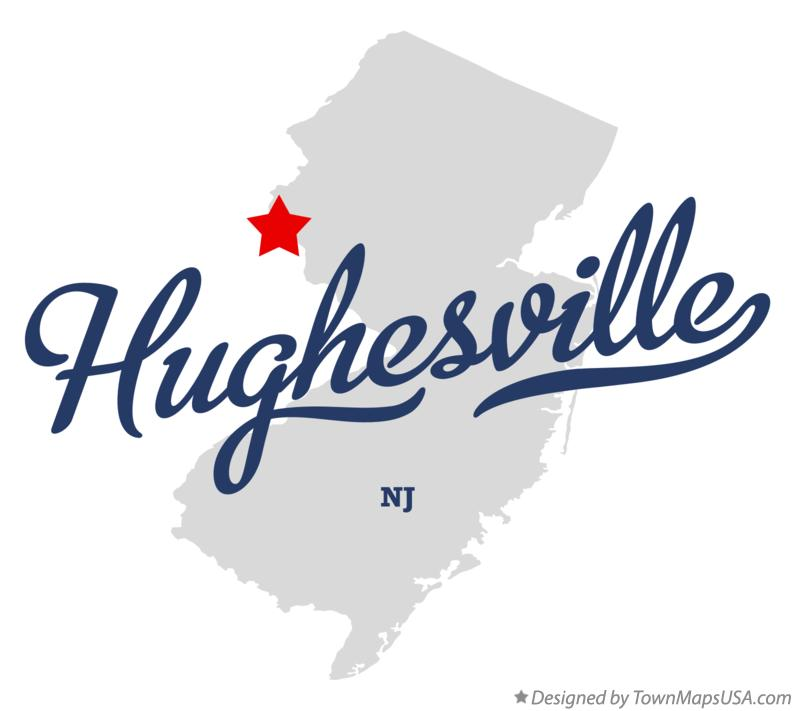 Map of Hughesville New Jersey NJ