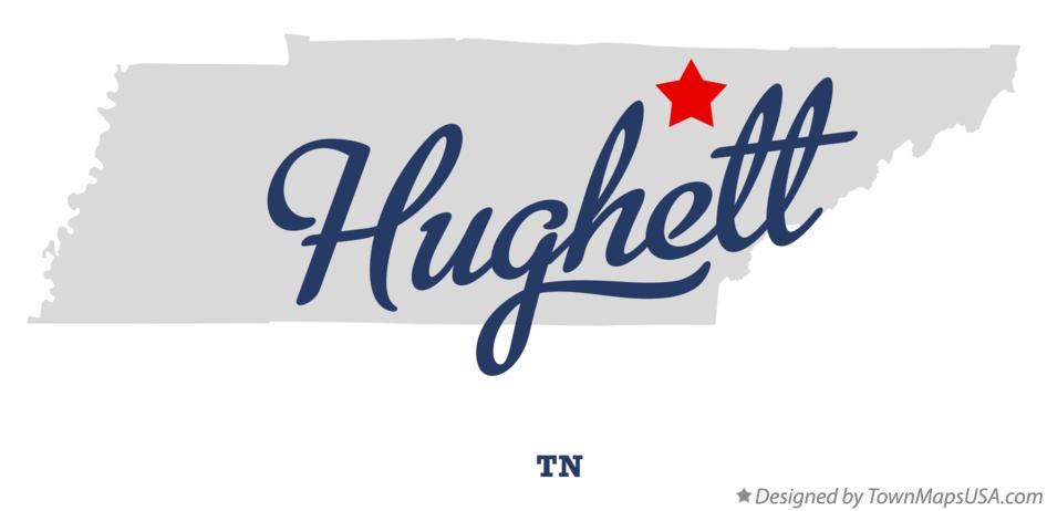 Map of Hughett Tennessee TN