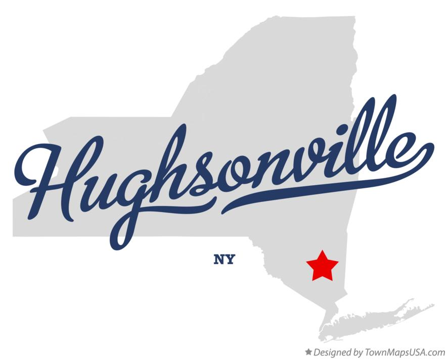 Map of Hughsonville New York NY