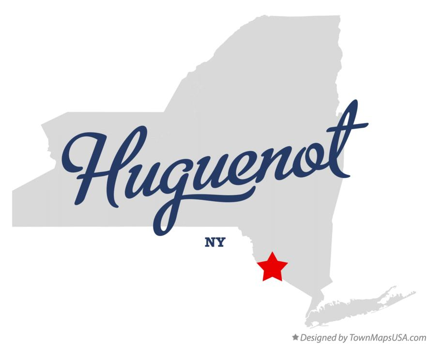 Map of Huguenot New York NY