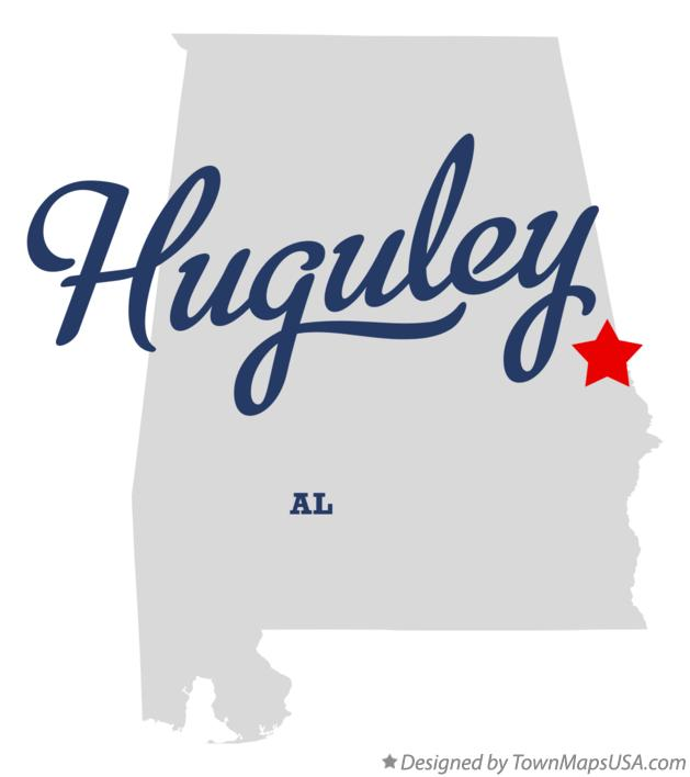 Map of Huguley Alabama AL