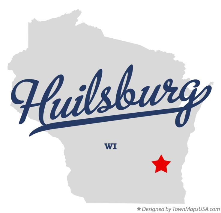 Map of Huilsburg Wisconsin WI