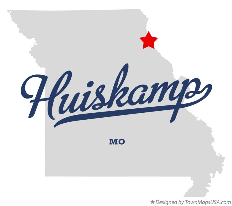 Map of Huiskamp Missouri MO