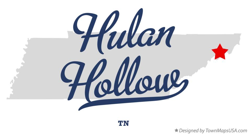 Map of Hulan Hollow Tennessee TN