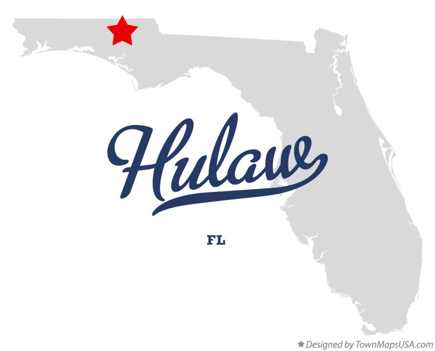 Map of Hulaw Florida FL