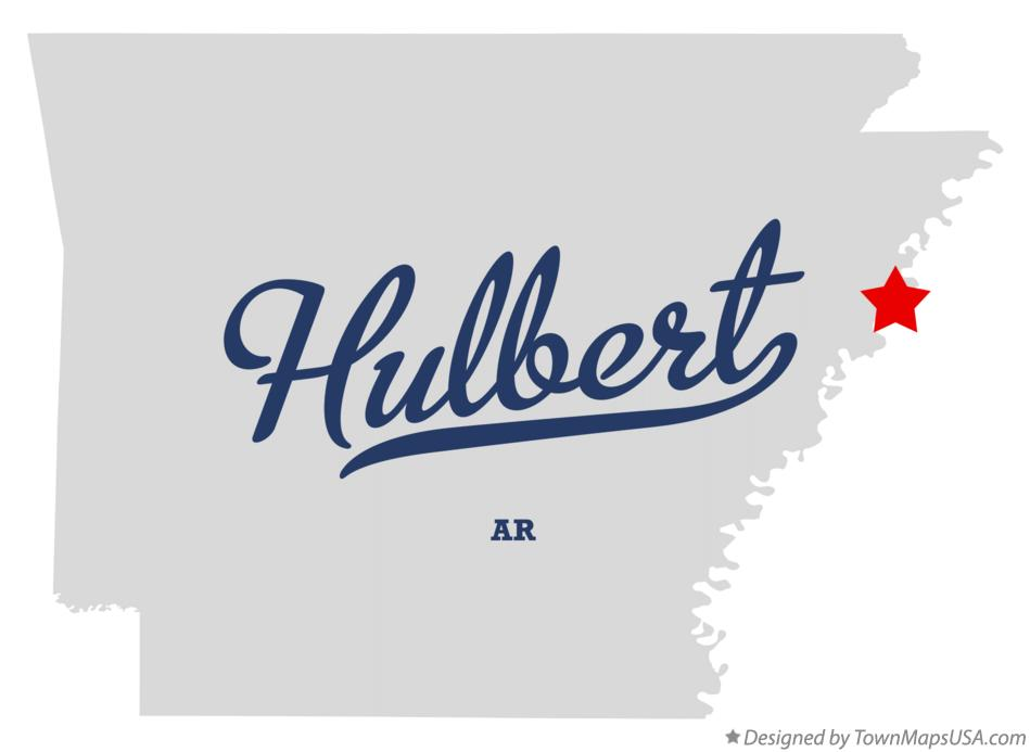 Map of Hulbert Arkansas AR