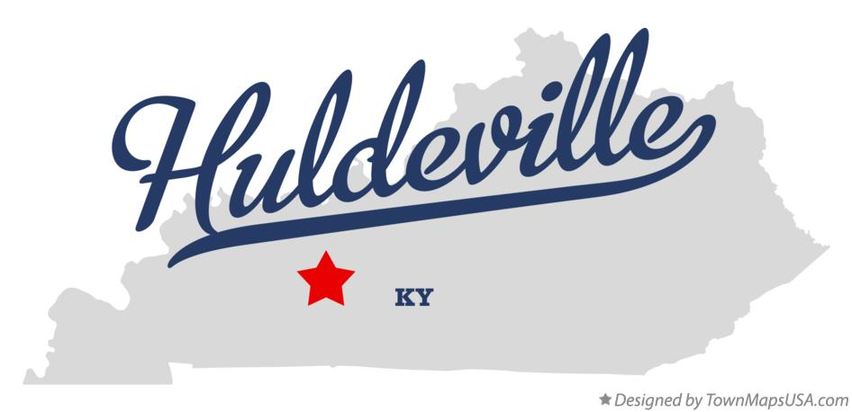 Map of Huldeville Kentucky KY
