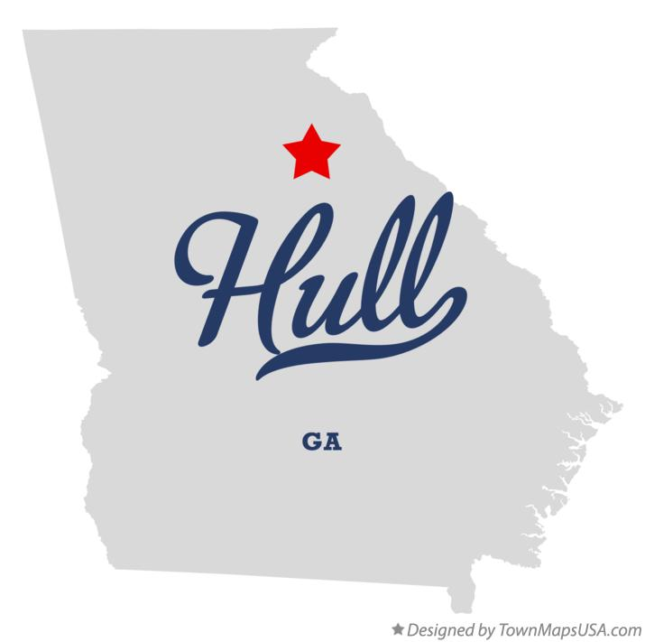 Map of Hull Georgia GA