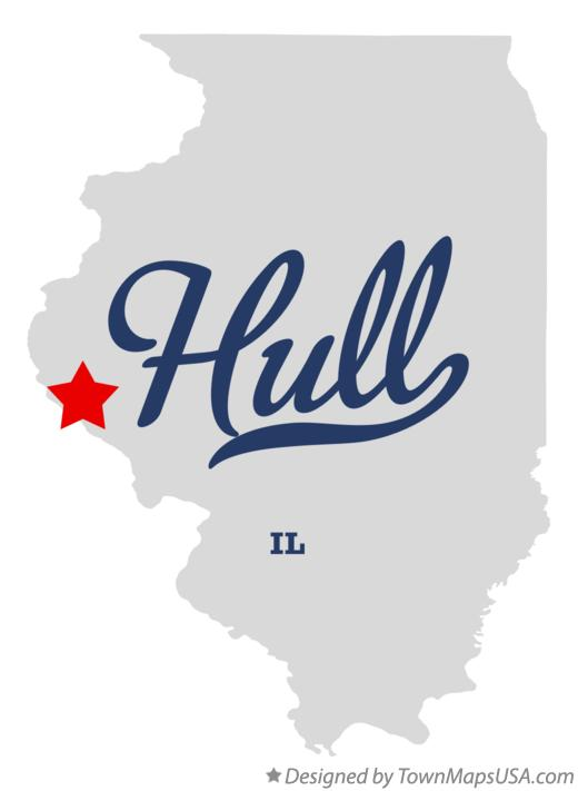 Map of Hull Illinois IL