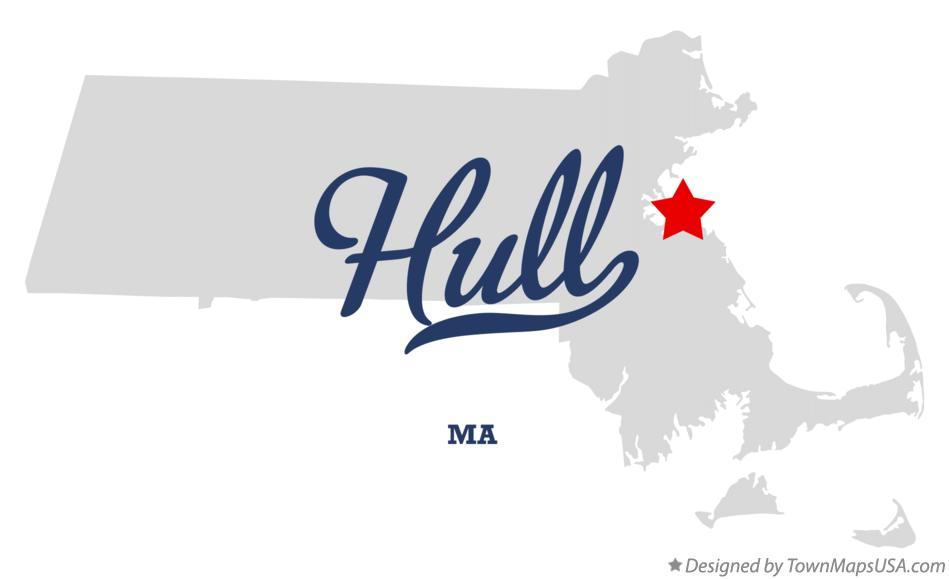 Map of Hull Massachusetts MA