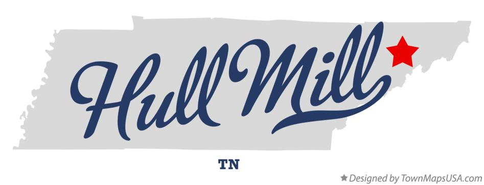 Map of Hull Mill Tennessee TN